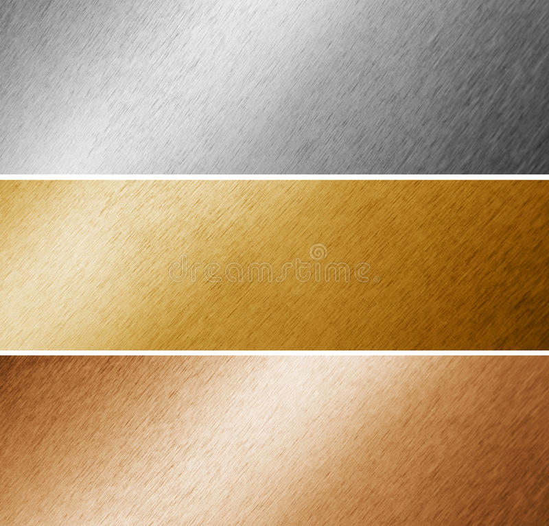 Metallo spazzolato fotografie stock