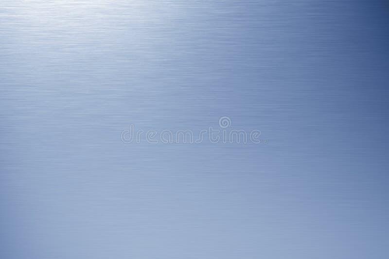 Metallo spazzolato blu fotografia stock