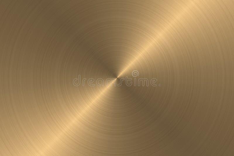 Metallo spazzolato - oro illustrazione vettoriale