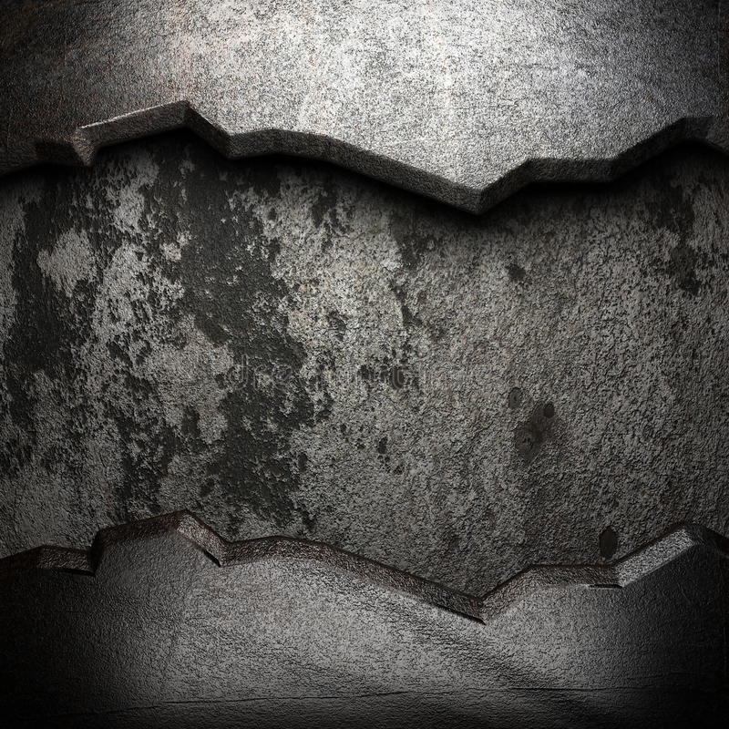 Metallo sulla parete illustrazione di stock
