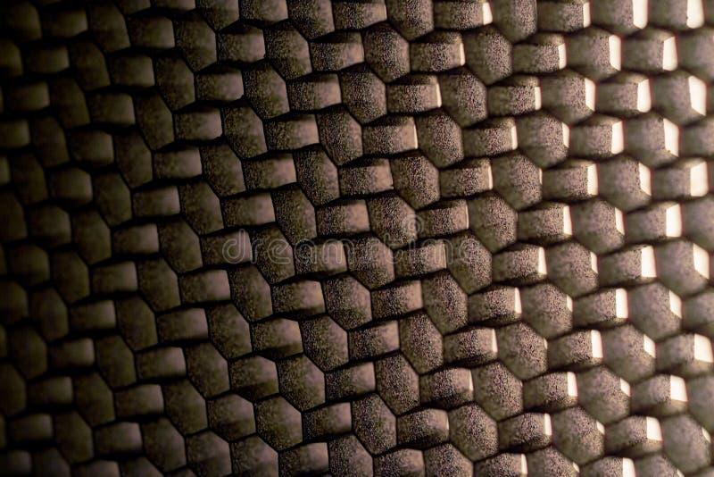 Metalloberfläche in Form von Polygonen stockfotografie