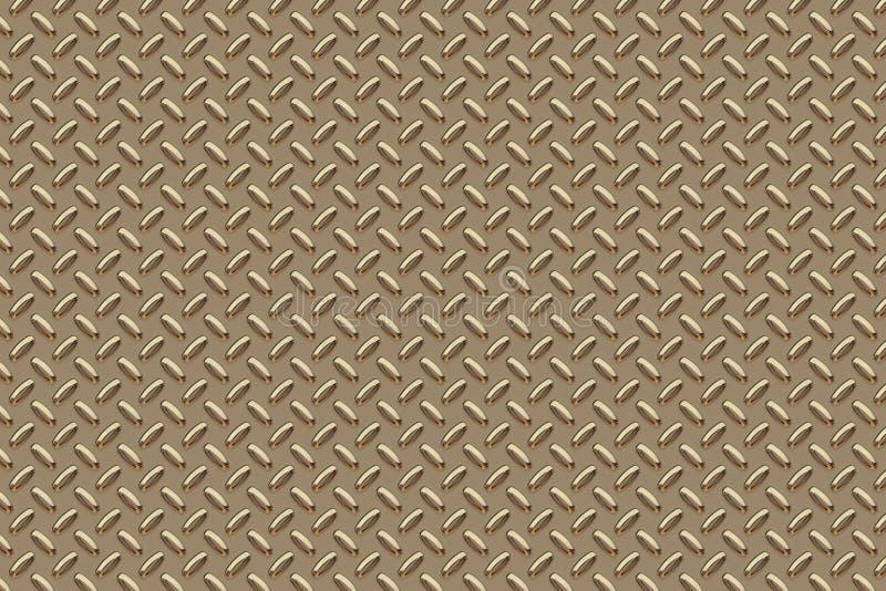 Metalloberfläche golden stock abbildung
