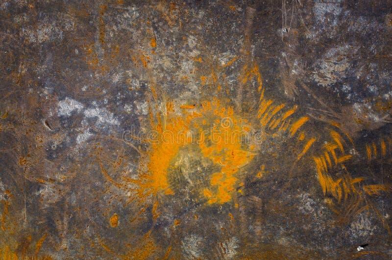 Metalloberfläche mit Rostbeschaffenheit als Hintergrund stockfotos