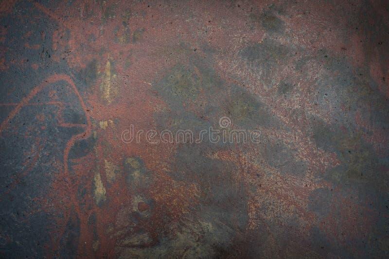 Metalloberfläche mit Rostbeschaffenheit als Hintergrund lizenzfreies stockbild