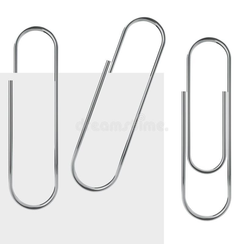 Metallpaperclip vektor illustrationer