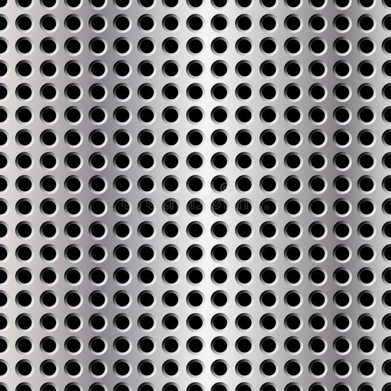 metallplatta stock illustrationer