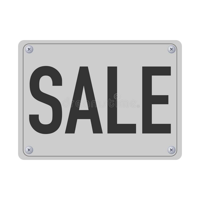 Metallplatte mit dem Verkauf geschrieben auf ihn lizenzfreie abbildung