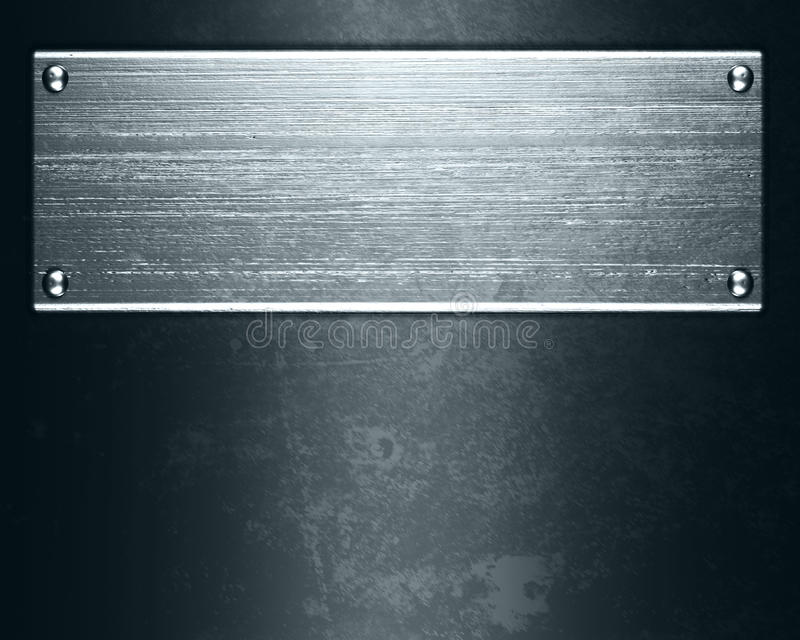 Metallplatten stockfotos