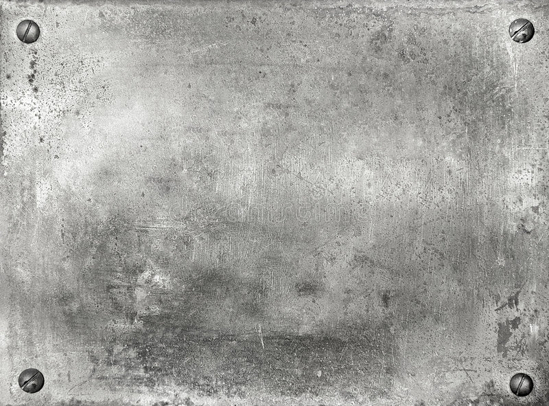 Metallplatten stockbild