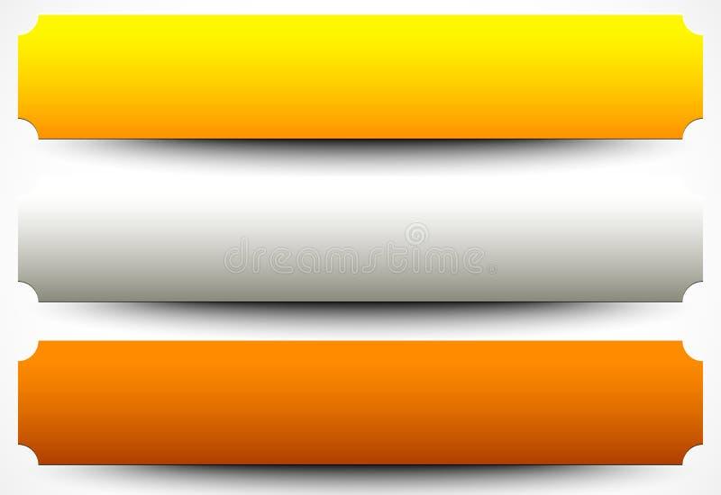 Metallplatten, Plaketten Edelmetallplakette, Knopf, Fahnen-BAC vektor abbildung