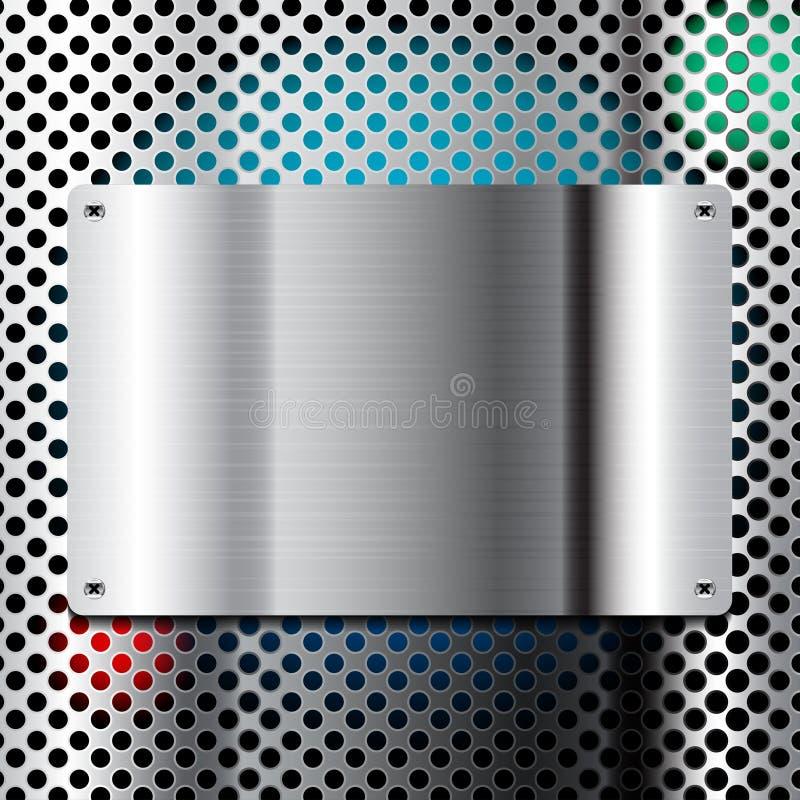 Metallplattenvektorillustration vektor abbildung