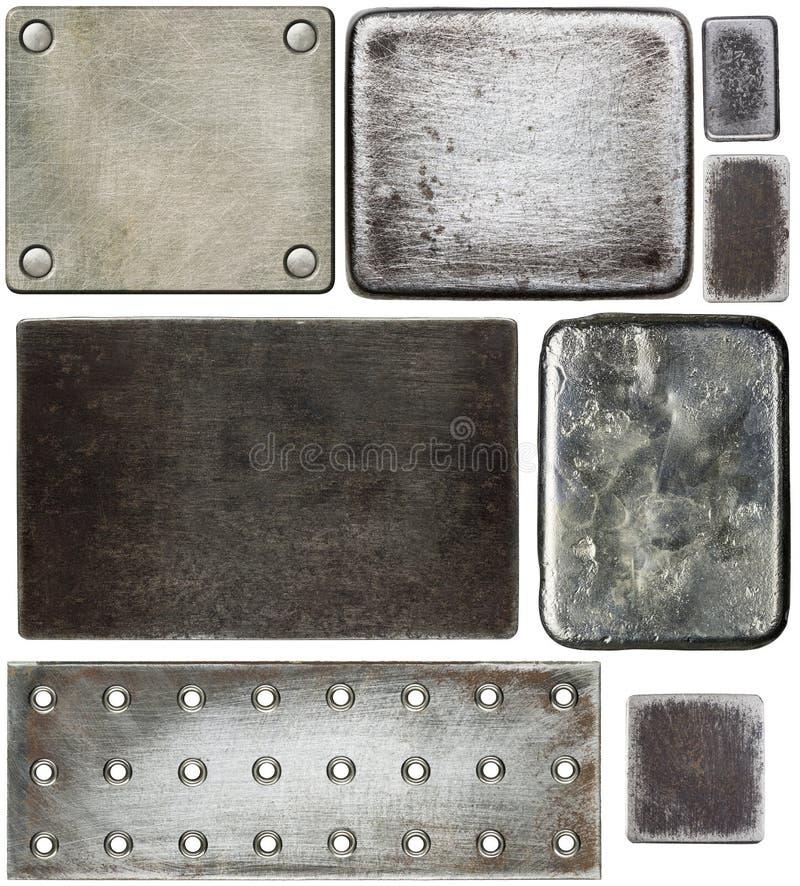 Metallplattor arkivbilder