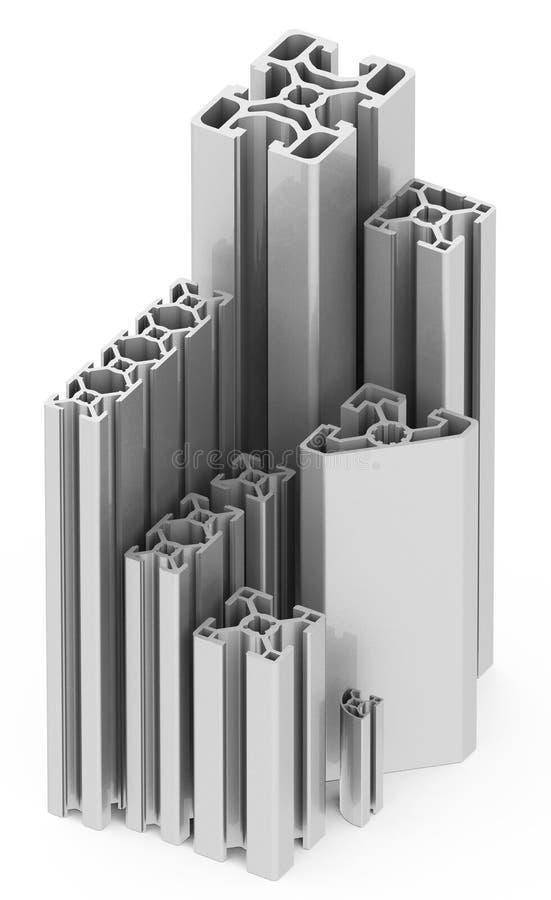 Metallprofilerna stock illustrationer