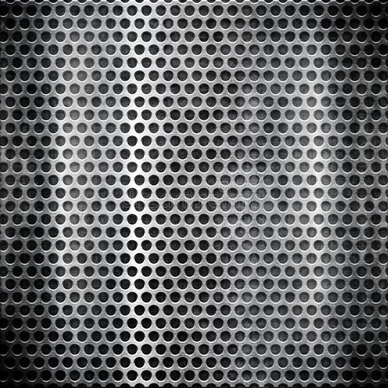 Metallrasterfeld stock abbildung
