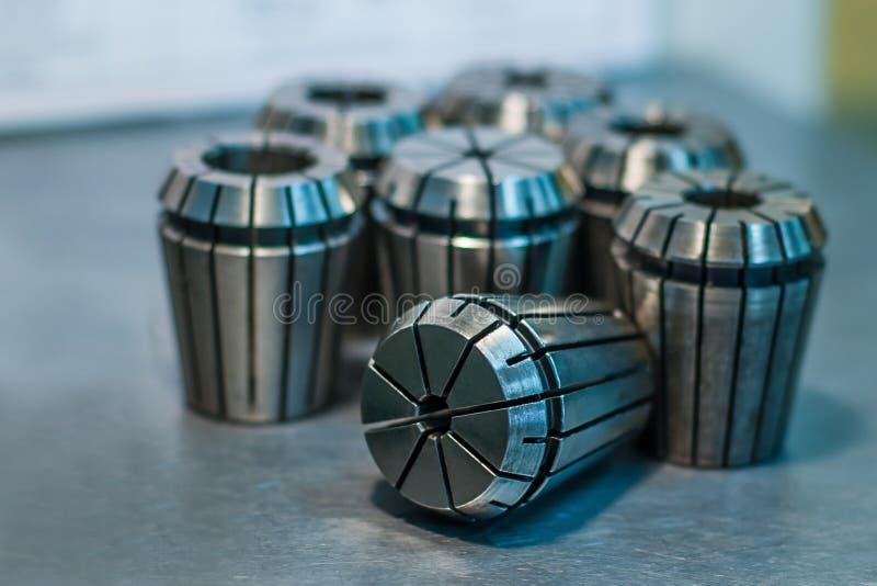 Metallringe für Werkzeugmaschinen lizenzfreies stockfoto