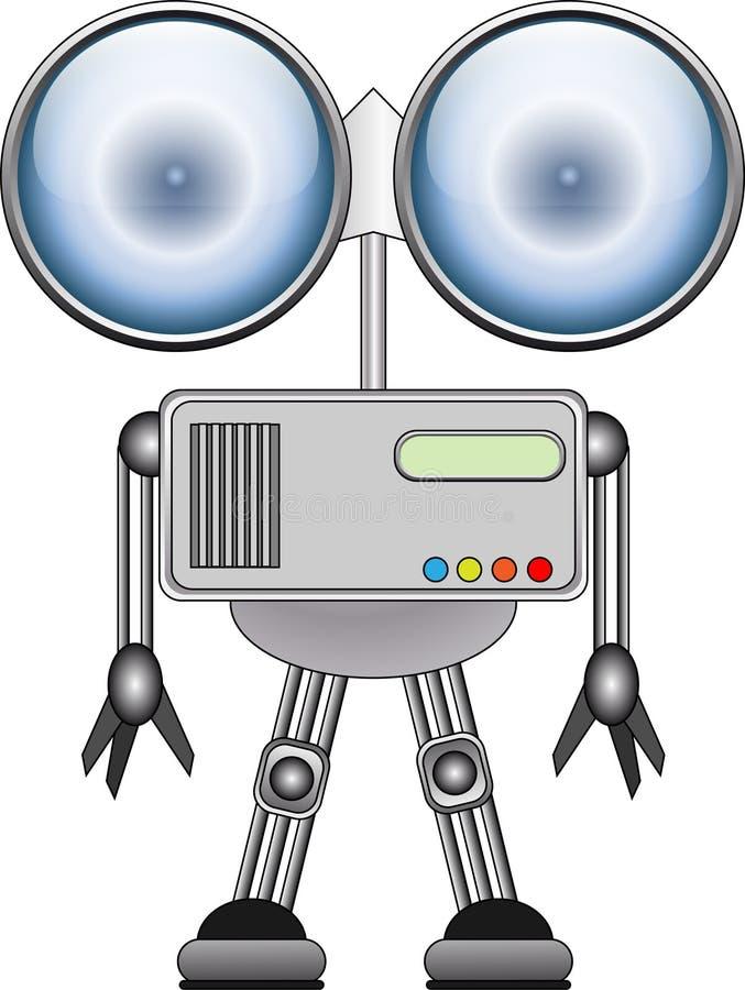 Metallroboter stock abbildung
