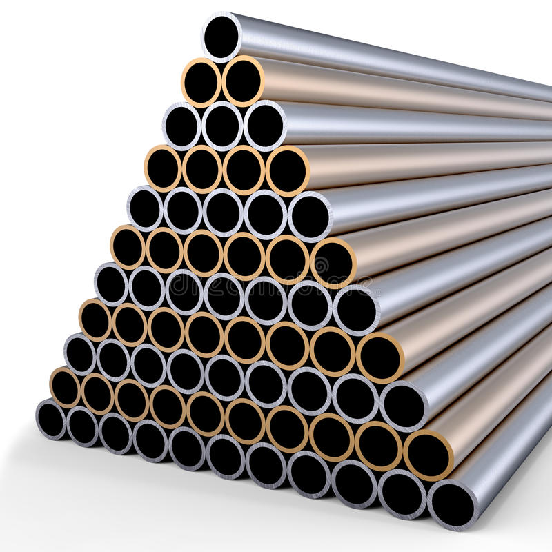 Metallrohre stock abbildung