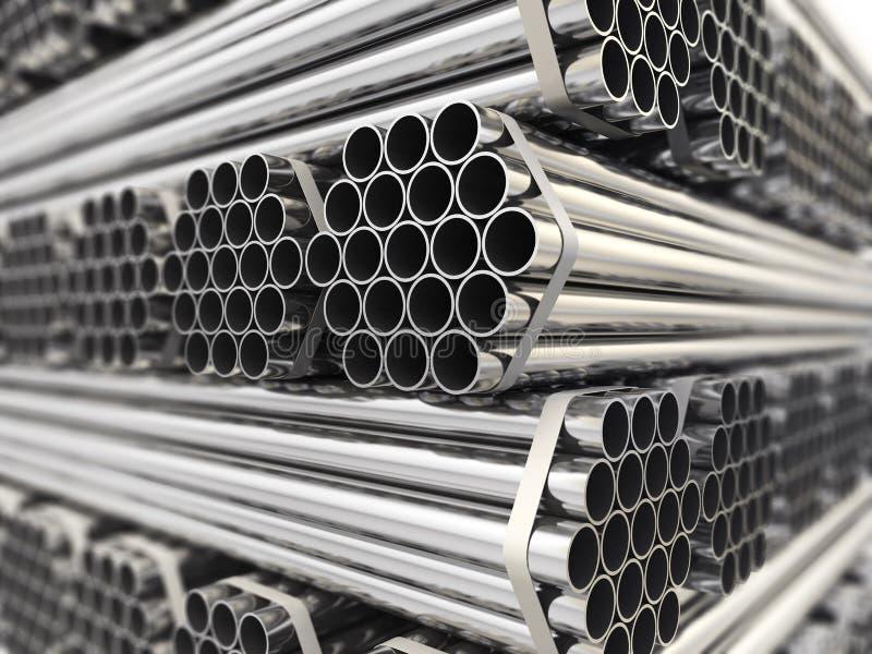 Metallrohre. lizenzfreie abbildung