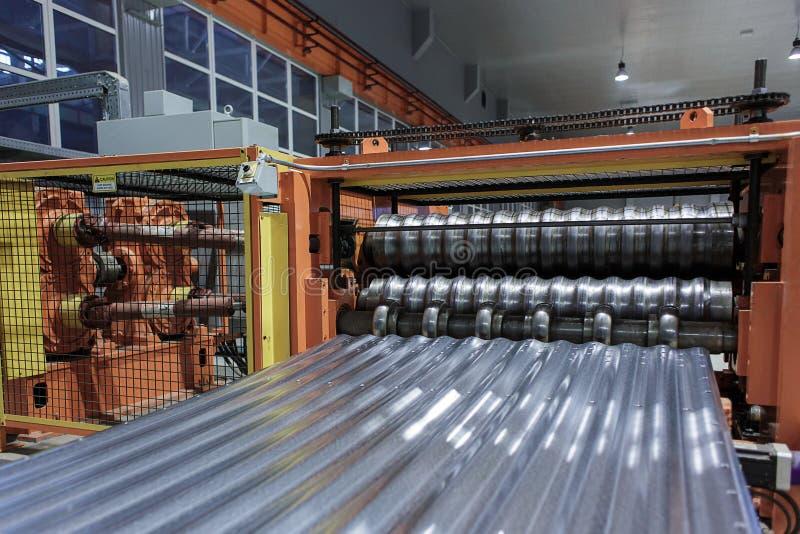 Metallrollengeschäft stockbilder