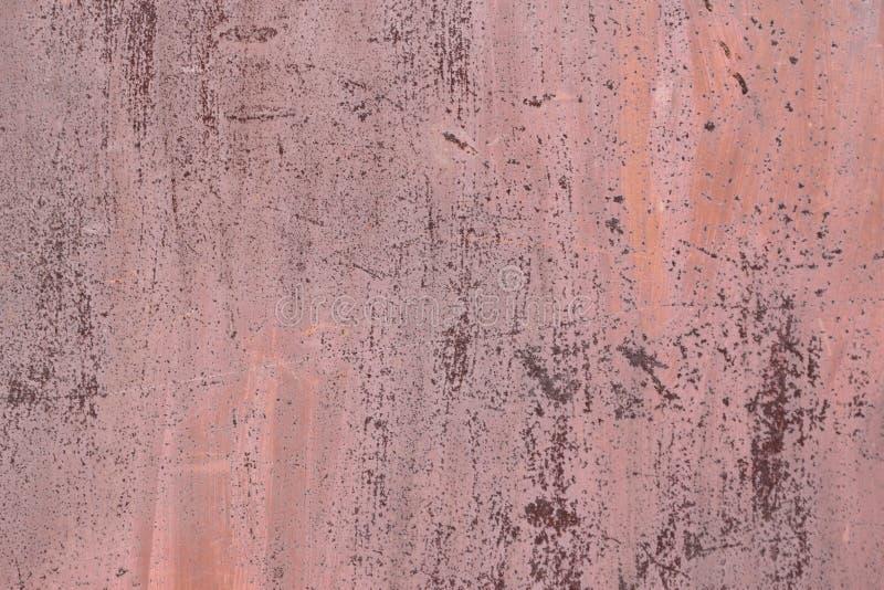Metallrostige Oberfläche mit Schalenfarbe lizenzfreie stockfotografie