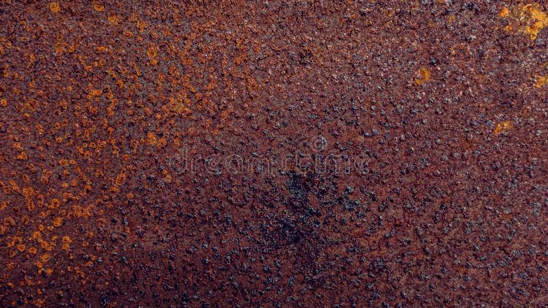 Metallrosttextur, metallrostbakgrund arkivbild