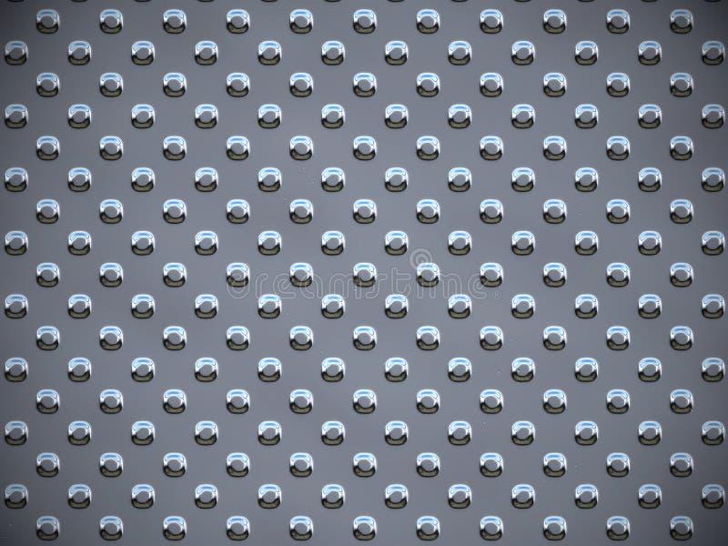 Metallrunde Punkte - Grau lizenzfreie abbildung