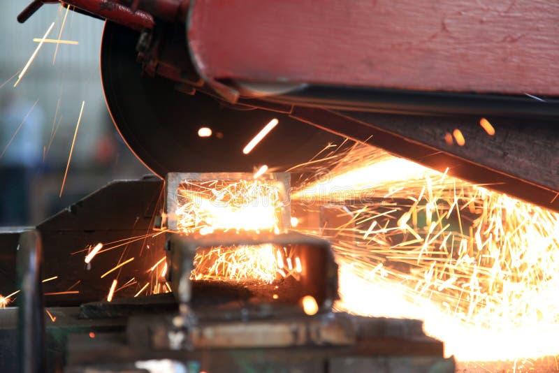 Metallsawingabschluß oben lizenzfreie stockbilder