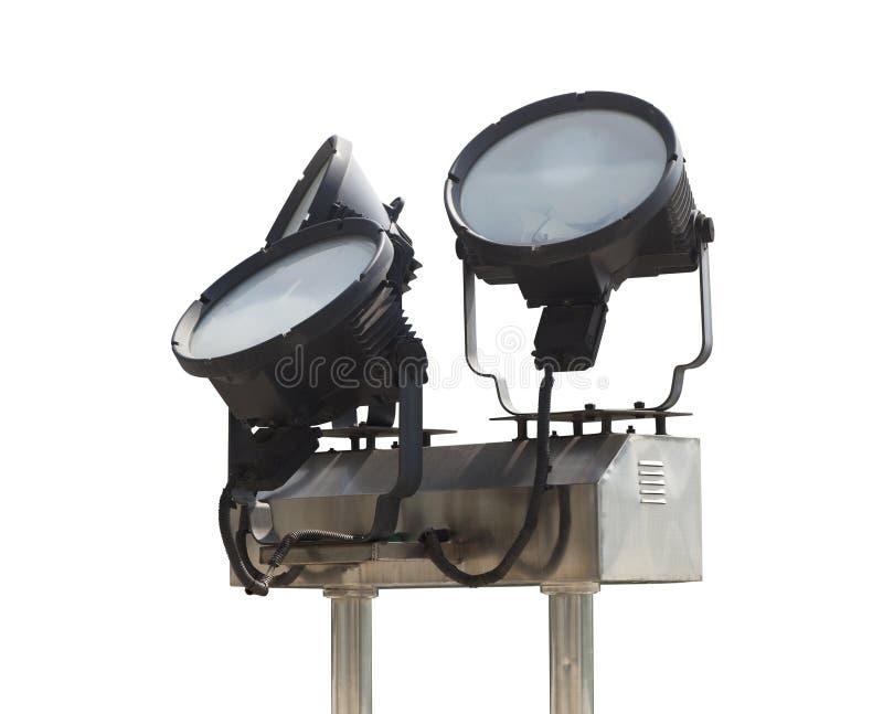 Metallscheinwerfer im Freien stockfotografie