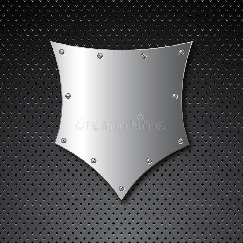 Metallschildhintergrund vektor abbildung