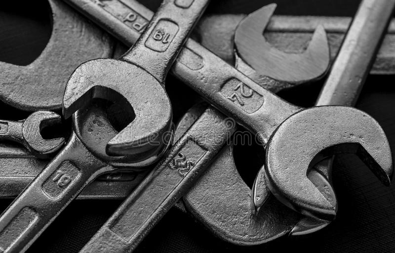 Metallschlüsselwerkzeuge lizenzfreie stockbilder