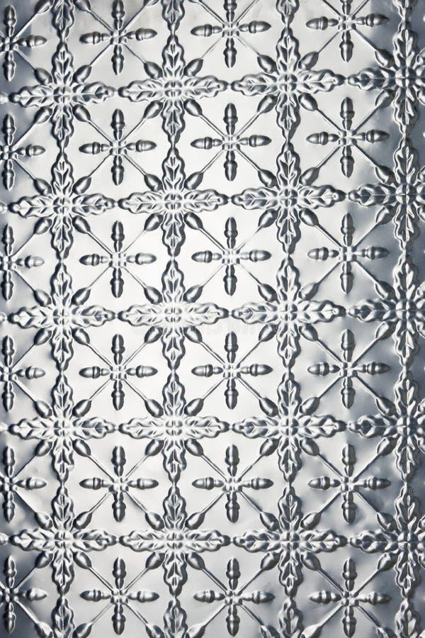 Metallschneeflocke-Weihnachtshintergrund stockbild