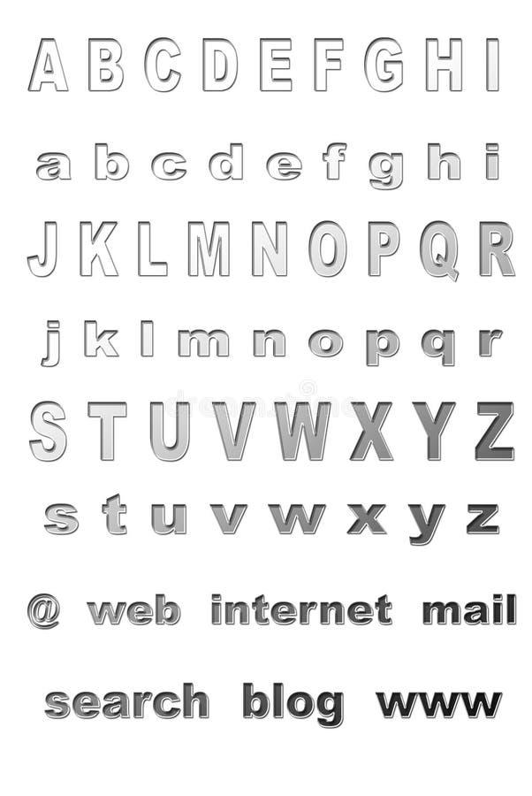 Metallschrifttyp lizenzfreie abbildung