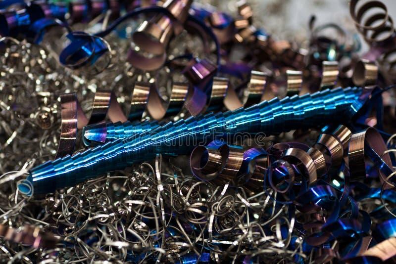 Metallshavings royaltyfri fotografi