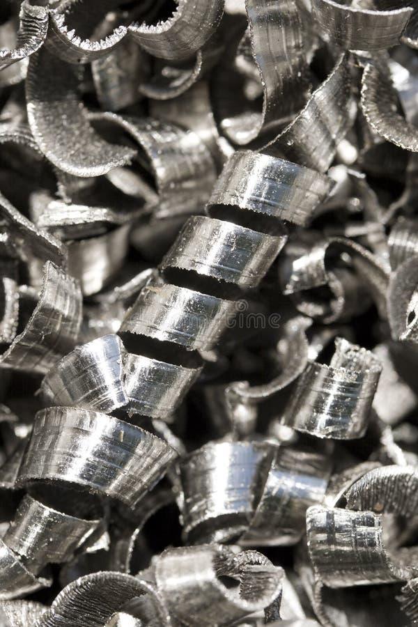 metallshavings arkivfoto