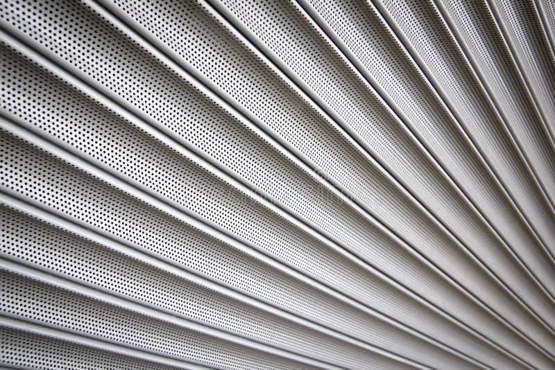 Metallsicherheit shutters Hintergrund stockfoto