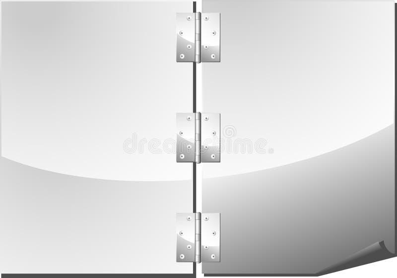 metallsida stock illustrationer