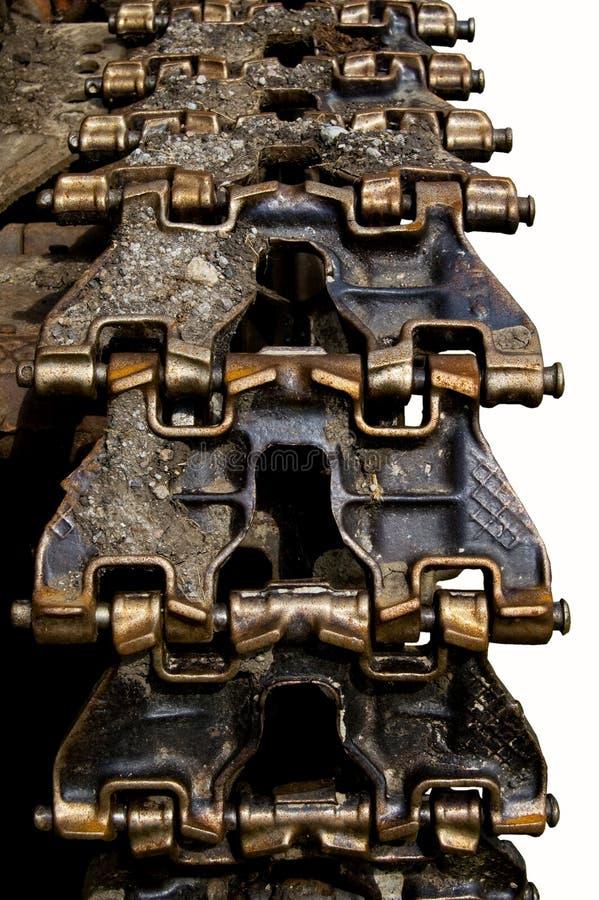 Metallspurtraktor lizenzfreies stockfoto