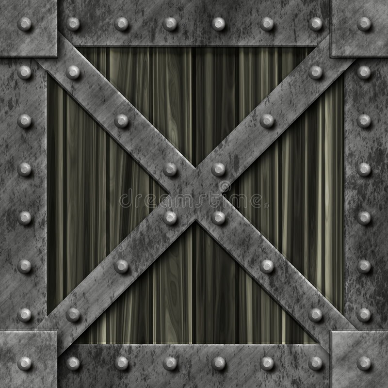 Metallstarker verschlossener Kasten lizenzfreie abbildung