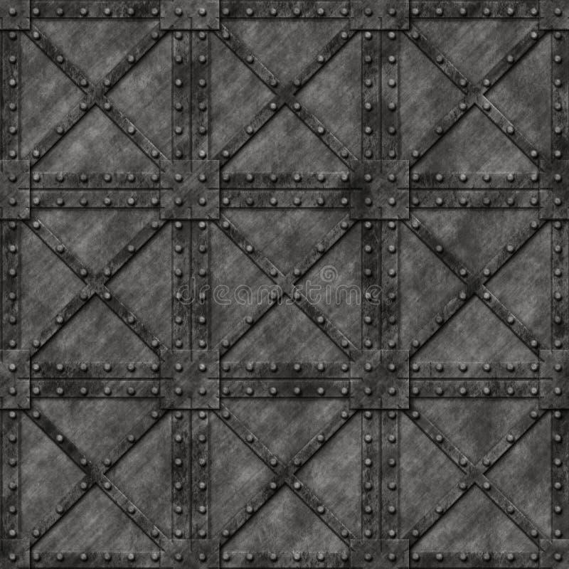 Metallstarker verschlossener Kasten vektor abbildung
