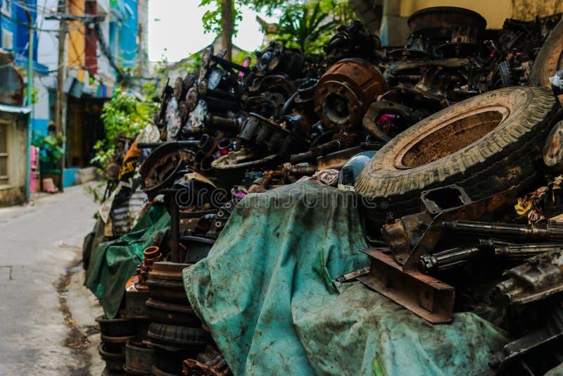 Metallsteile böschung stockfotografie