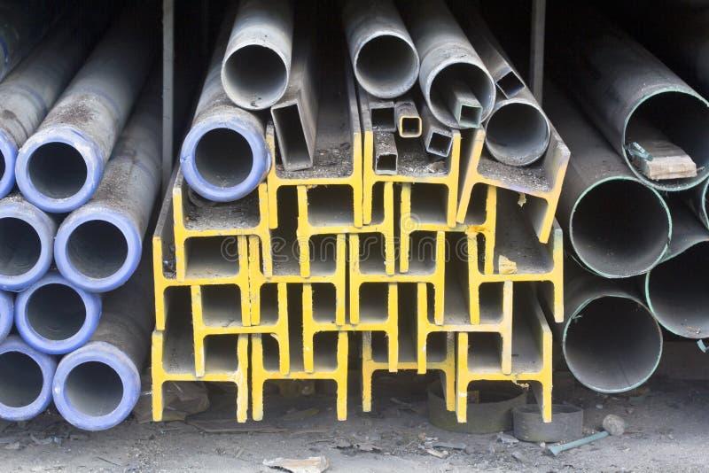 Metallstrahl und -rohr stockbilder
