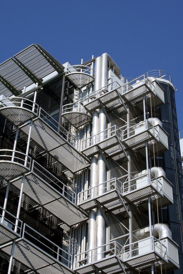 Metallstrukturgebäude stockfotografie