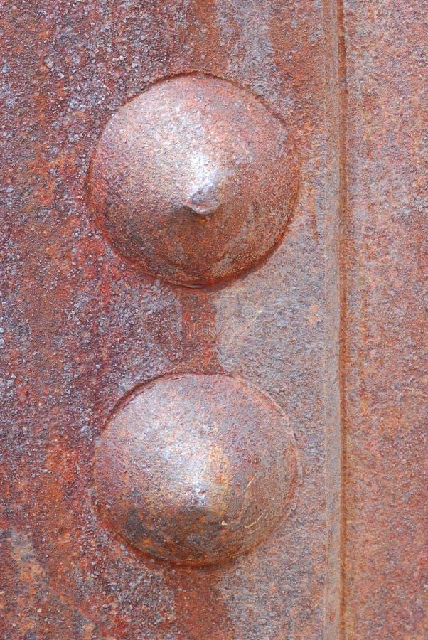Metallstrukturiertes rostiges Maschineriedetail lizenzfreie stockfotos