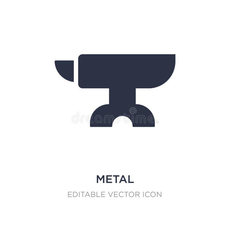 metallsymbol på vit bakgrund Enkel beståndsdelillustration från hjälpmedel- och redskapbegrepp stock illustrationer