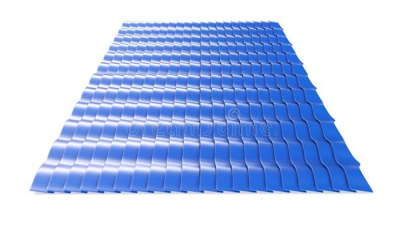 Metalltegelplattaark 3d framf?r isolerat p? vit vektor illustrationer