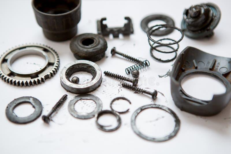 Metallteile schmutzig lizenzfreies stockbild