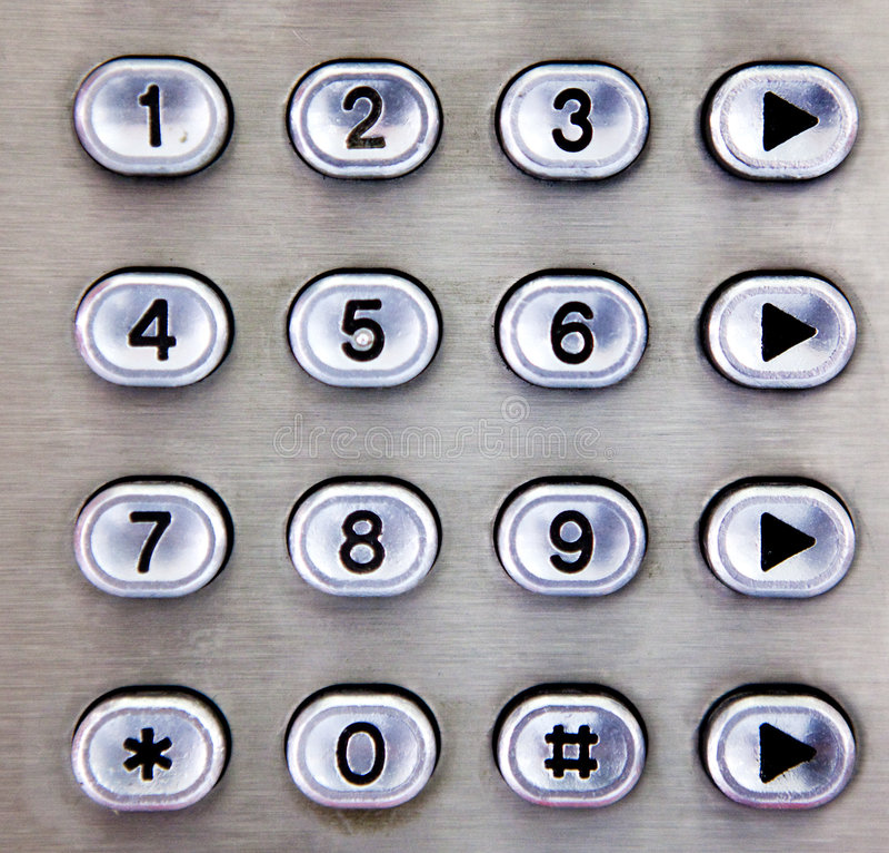Metalltelefon-Auflage stockfoto