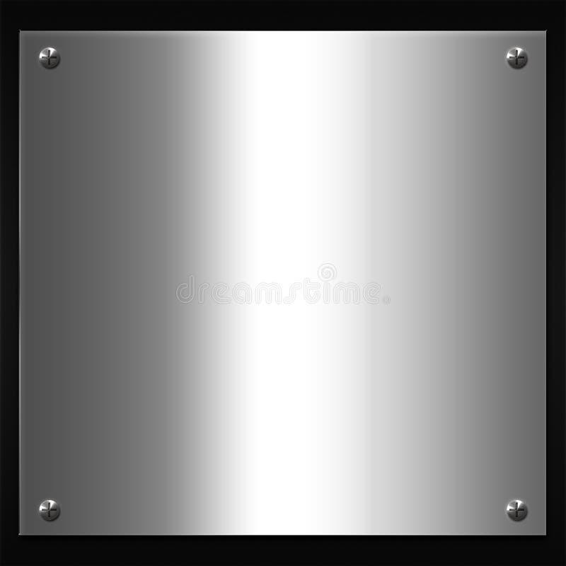 Metalltextur stock illustrationer