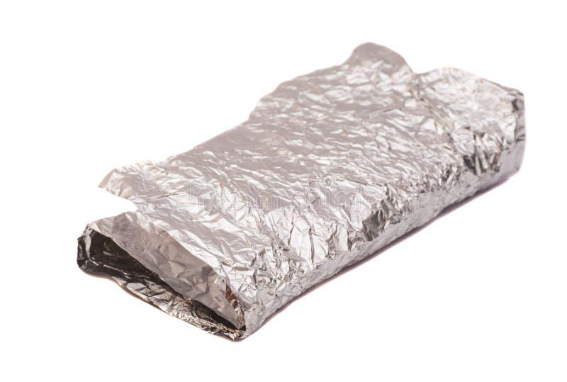 metalltextur för aluminum folie royaltyfria foton