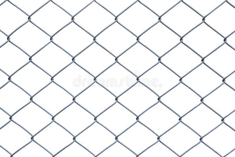 Metalltrådstaket eller bur på vit bakgrund royaltyfria foton